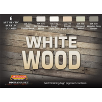 Lifecolor CS38 White Wood Acrylic Paint Set