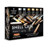 Lifecolor CS47 Shell Case Metal Colour Set 1 Acrylic Paint Set