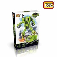 LOZ Transformation Green Garbage Truck
