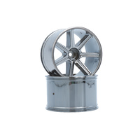 LRP 8-Spoke Wheel Black - Chrome (2pcs) - S10 TX LRP-122020