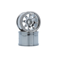 LRP 8-Spoke Wheel Black - Chrome (2pcs) LRP-122021