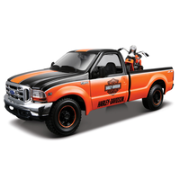 Maisto 1/24 1999 Ford F350 with Knucklehead Harley