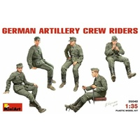Miniart 1/35 German Artillery Crew Riders 35040 Plastic Model Kit