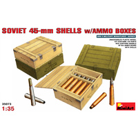 Miniart 1/35 Soviet 45-mm Shells w/ Ammo Boxes 35073 Plastic Model Kit