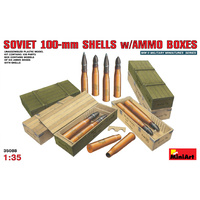 Miniart 1/35 Soviet 100-mm Shells w/ Ammo Boxes 35088 Plastic Model Kit