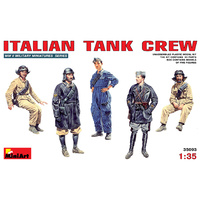 Miniart 1/35 Italian Tank Crew 35093 Plastic Model Kit