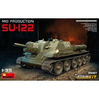 Miniart 1/35 SU-122 (Mid Production) w/ Interior Kit 35197 Plastic Model Kit