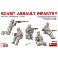 Miniart 1/35 Soviet Assault Infantry (Winter Camouflage Cloaks) 35226 Plastic Model Kit