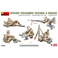 Miniart 1/35 Soviet Soldiers Taking a Break 35233 Plastic Model Kit