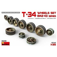 Miniart 1/35 T-34 Wheels Set. 1942 Series 35236 Plastic Model Kit
