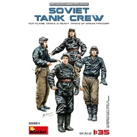 Miniart 1/35 Soviet Tank Crew (for Flame Tanks & Heavy Tanks of Breakthrough) 35254 Plastic Model Kit