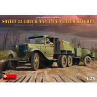 Miniart 1/35 Soviet 2 t Truck AAA Type w/Field Kitchen 35257 Plastic Model Kit