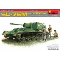 Miniart 1/35 SU-76M w/Crew Special Edition 35262 Plastic Model Kit