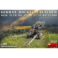 Miniart 1/35 German Rocket Launcher with 28cm WK Spr & 32cm WK Flamm 35269 Plastic Model Kit