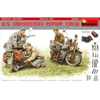Miniart 1/35 U.S. Motorcycle Repair Crew. Special Edition 35284 Plastic Model Kit