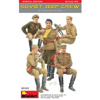 Miniart 1/35 Soviet Jeep Crew. Special Edition 35313 Plastic Model Kit