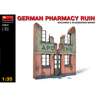 Miniart 1/35 German Pharmacy Ruin 35537 Plastic Model Kit