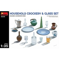 Miniart 1/35 Household Crockery & Glass Set 35559 Plastic Model Kit