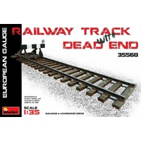 Miniart 1/35 Railway Track & Dead End (European Gauge)
