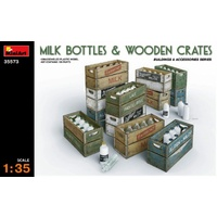 Miniart 1/35 Milk Bottles & Wooden Crates 35573 Plastic Model Kit