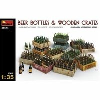 Miniart 1/35 Beer Bottles & Wooden Crates 35574 Plastic Model Kit