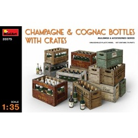 Miniart 1/35 Champagne & Cognac Bottles w/Crates 35575 Plastic Model Kit