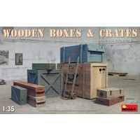 Miniart 1/35 Wooden Boxes & Crates 35581 Plastic Model Kit