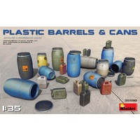 Miniart 1/35 Plastic Barrels & Cans 35590 Plastic Model Kit