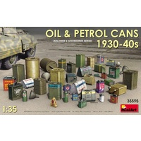 Miniart 1/35 Oil & Petrol Cans 1930-40s 35595 Plastic Model Kit