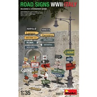 Miniart 1/35 Road Signs WWII Italy Plastic Model Kit