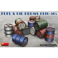 Miniart 1/35 Fuel & Oil Drums 1930-50s Plastic Model Kit