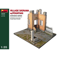 Miniart 1/35 Village Diorama w/Fountain