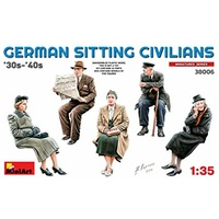Miniart 1/35 German Sitting Civilians '30s-'40s 38006 Plastic Model Kit