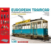 Miniart 1/35 European Tramcar (Strassenbahn Triebwagen 641) with Crew & Passengers 38009 Plastic Model Kit