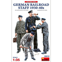 Miniart 1/35 German Railroad Staff 1930-40s