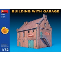 Miniart 1/72 Building with Garage 72031 Plastic Model Kit