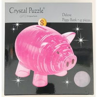 Mag-Nif 3D Pink Piggy Bank Crystal Puzzle