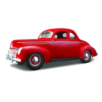 Maisto 1/18 1939 Ford Deluxe Coupe - Red - Diecast