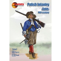 Mars 72047 1/72 Polish infantry (late) 1st half XVII c 48 figures Plastic Model Kit