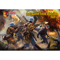 Mars 1/72 Luftwaffe Field Division infantry (WWII) 40 figures in 8 poses Plastic Model Kit