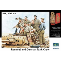 Master Box 1/35 German Tank Crew Afrika Korps with Rommel