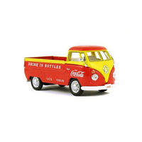 Motor City 1/43 1962 VW T1 Pickup Orange & Yellow Coca Cola