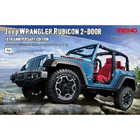 Meng 1/24 Jeep Wrangler Rubicon 10th Anniversry Edition Plastic Kit CS-003