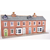 Metcalfe N Red Brick Terraced House Fronts Card Kit