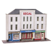 Metcalfe HO Low Relief Cinema & 2 Shops Card Kit