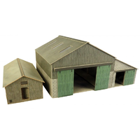 Metcalfe HO Manor Barn/Cow Shed Card Kit