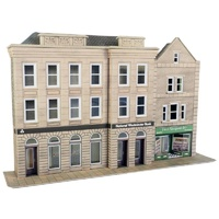 Metcalfe HO Low Relief Bank & Shop Card Kit