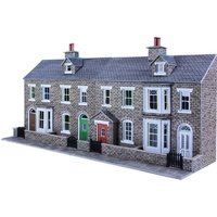 Metcalfe HO Low Relief Stone Terrace Fronts Card Kit