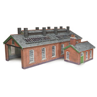 Metcalfe HO Double Track Engine Shed Card Kit