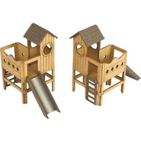 Metcalfe HO Children's Play Area 2pkt Card Kit